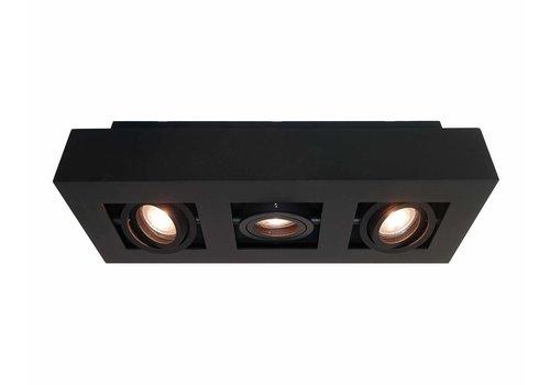 Artdelight Spot Bosco 3 lichts L 36 cm B 14 cm zwart