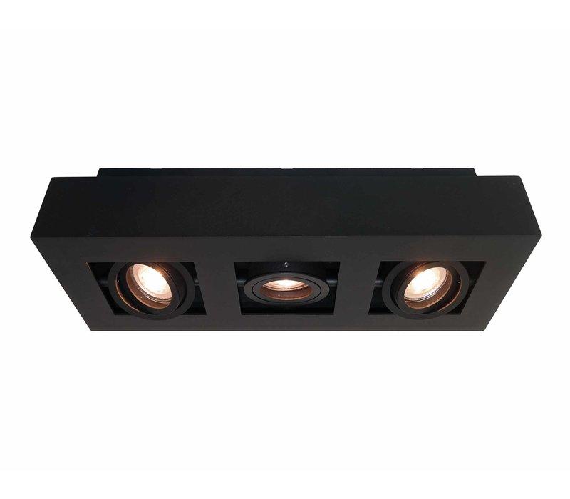 Spot Bosco 3 lichts L 36 cm B 14 cm zwart