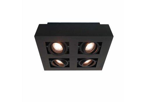 Artdelight Spot Bosco 4 lichts L 35 cm B 35 cm zwart