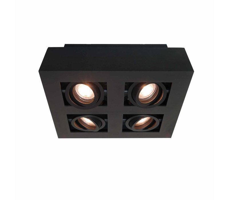 Spot Bosco 4 lichts L 35 cm B 35 cm zwart