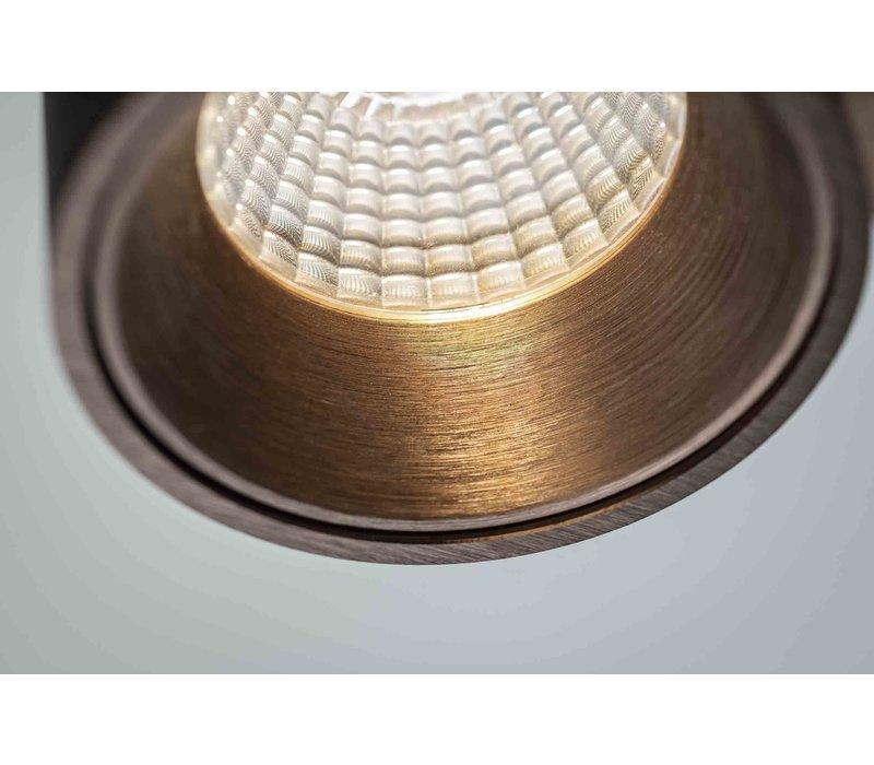 Spot Laguna 1 lichts 10 x 10 cm mat brons