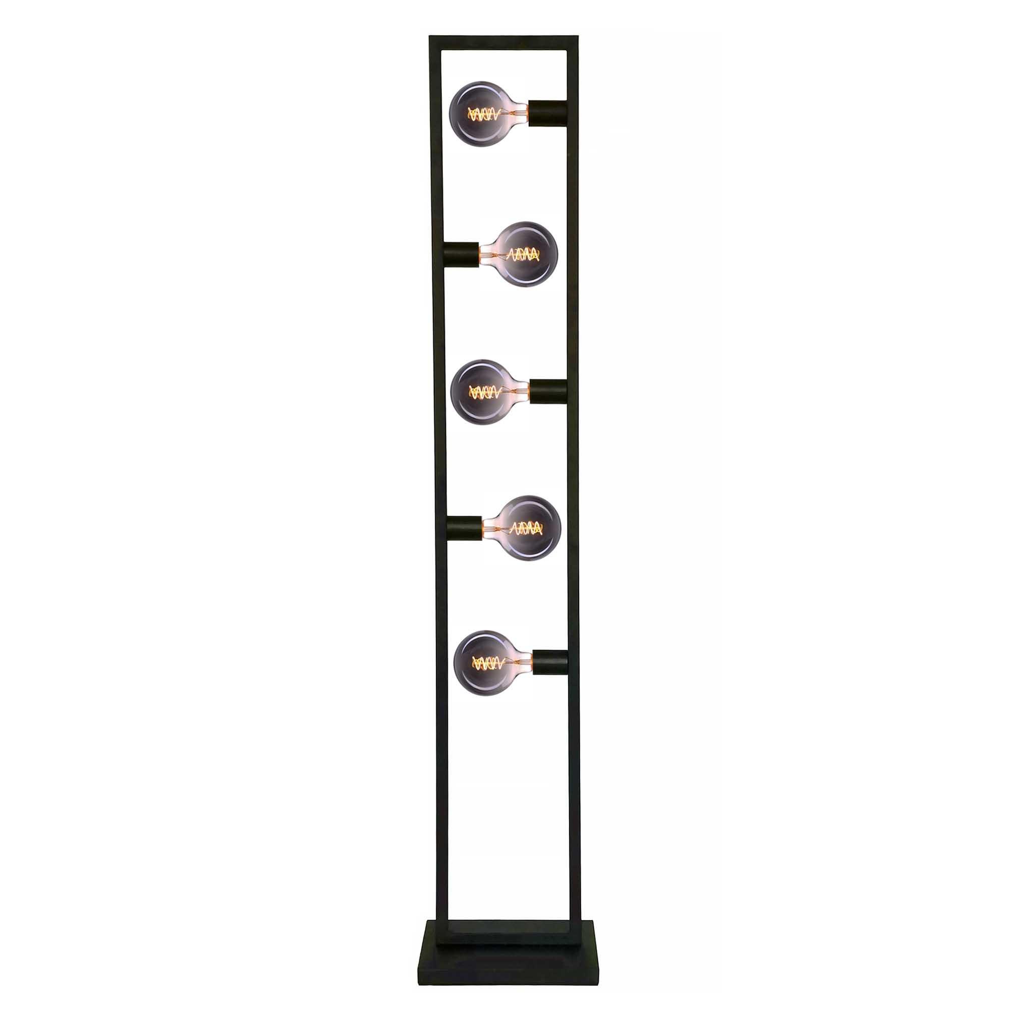 Freelight Vloerlamp Distesa 5 lichts H 160 cm zwart