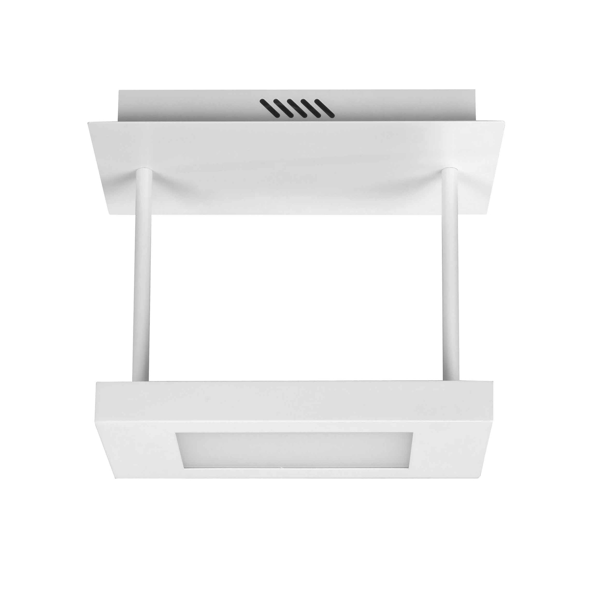 Highlight Plafondlamp Cloud rechthoek - L 30 cm B 15 cm - wit