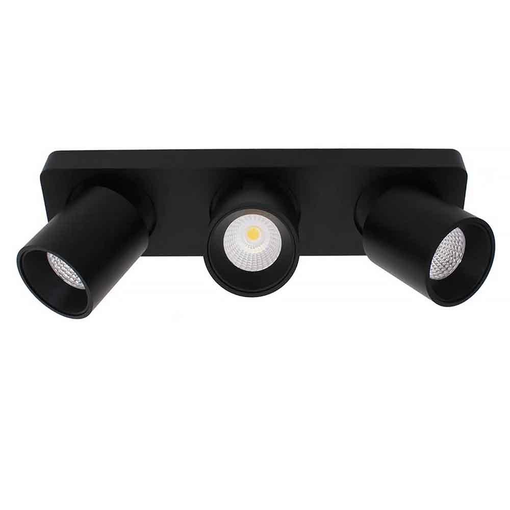 Artdelight Spot Laguna 3 lichts L 32 cm B 8,5 cm zwart
