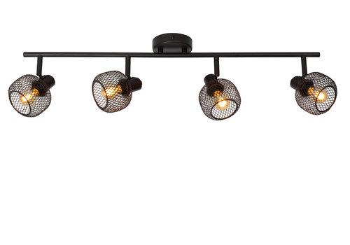 Lucide MAREN Plafondspot-Zwart-4xE14-40W-Metaal
