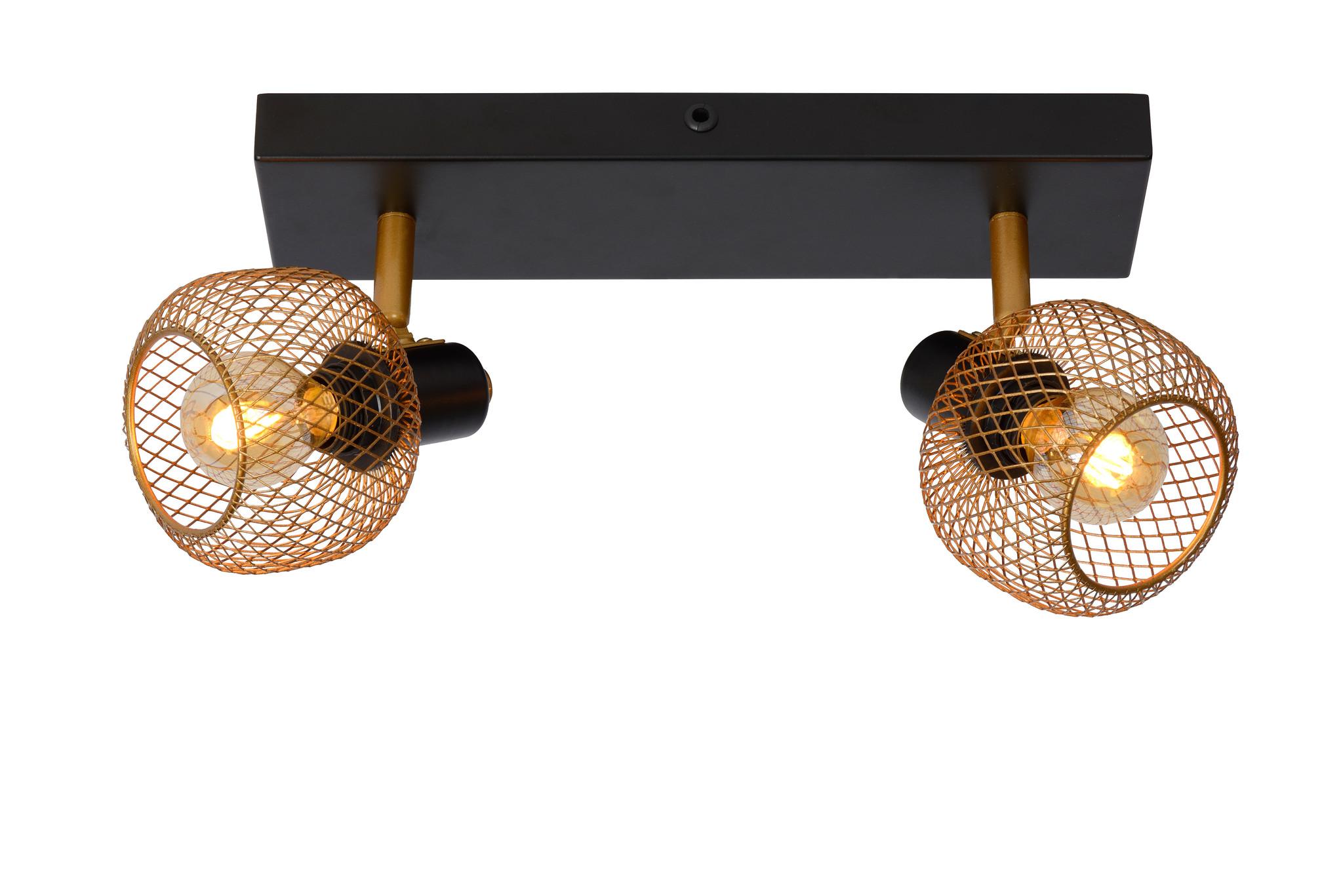 Lucide MAREN Plafondspot 2x E14 Goud - Zwart