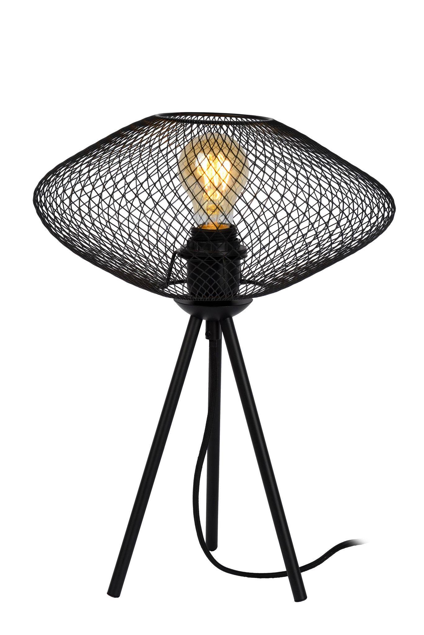 Lucide MESH Tafellamp E27/40W Zwart