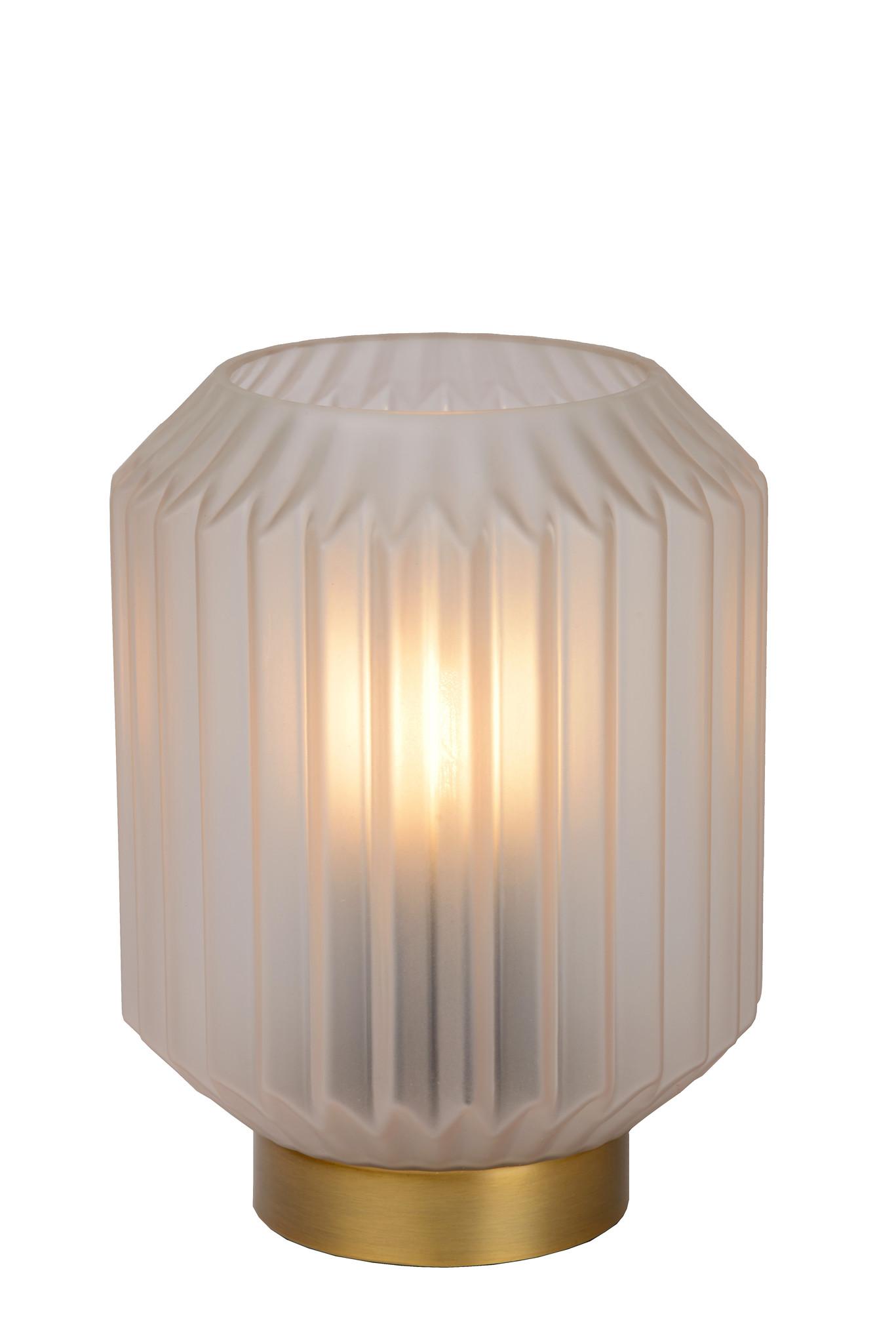 Lucide SUENO Tafellamp-Wit-Ø13-1xE14-40W-Glas