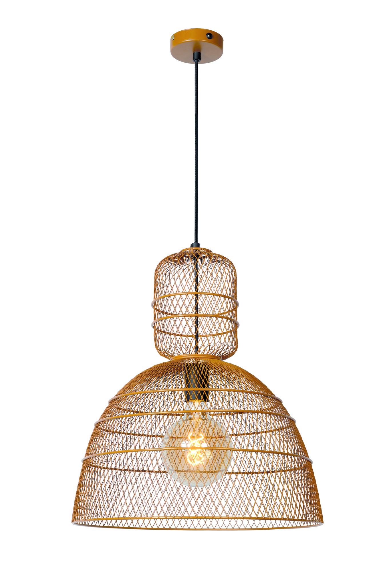 Lucide GASSET Hanglamp-Bruin-Ø42,5-1xE27-60W-Metaal