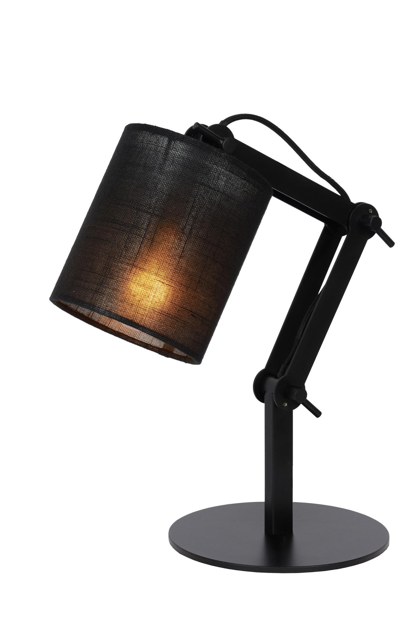 Lucide TAMPA Tafellamp-Zwart-1xE27-40W-Metaal