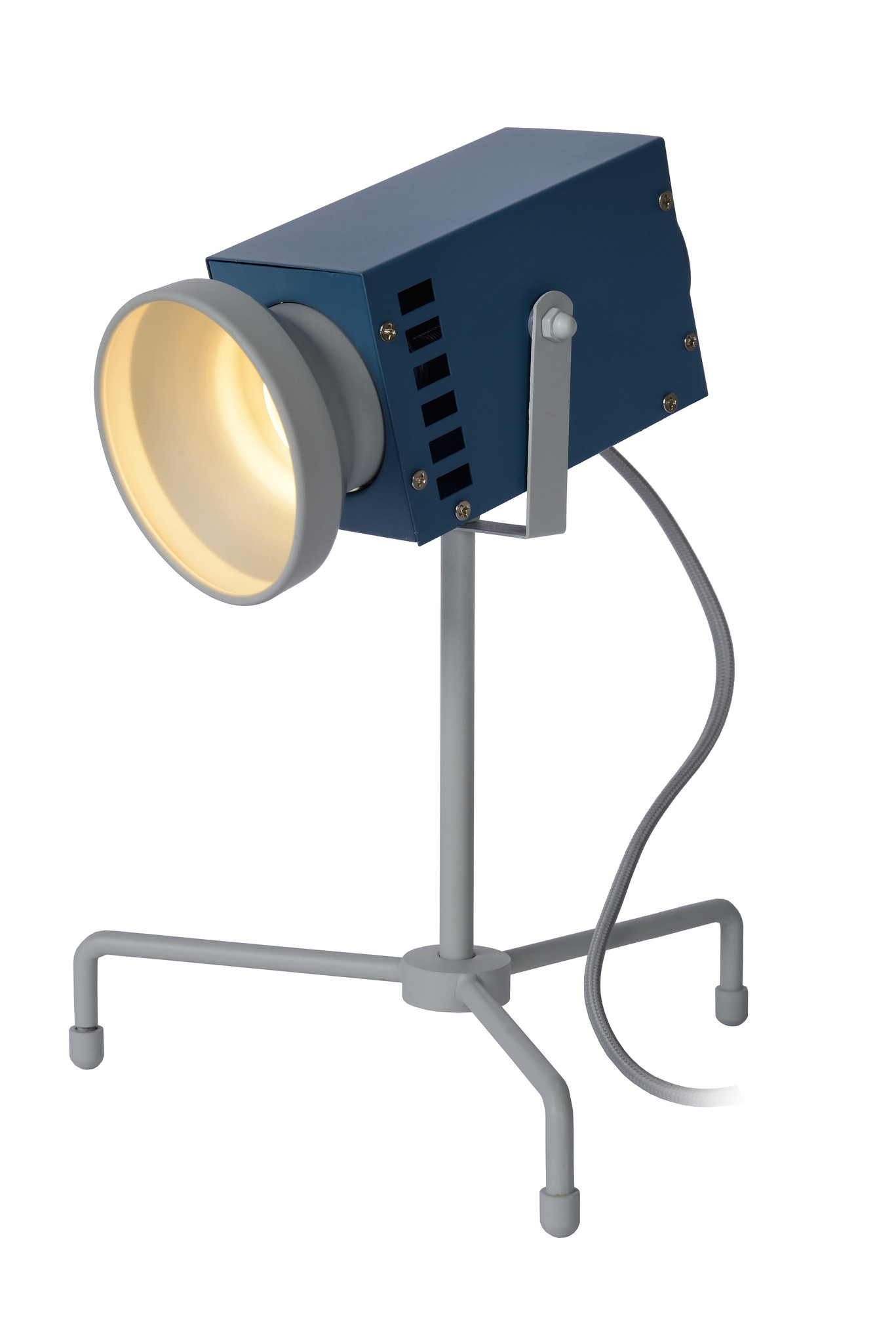 Lucide BEAMER Tafellamp Kinder-Blauw-LED-3W-3000K-Staal