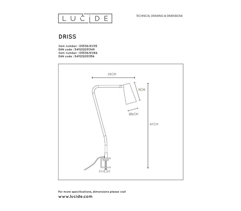 DRISS Tafellamp GU10 /25W Roze