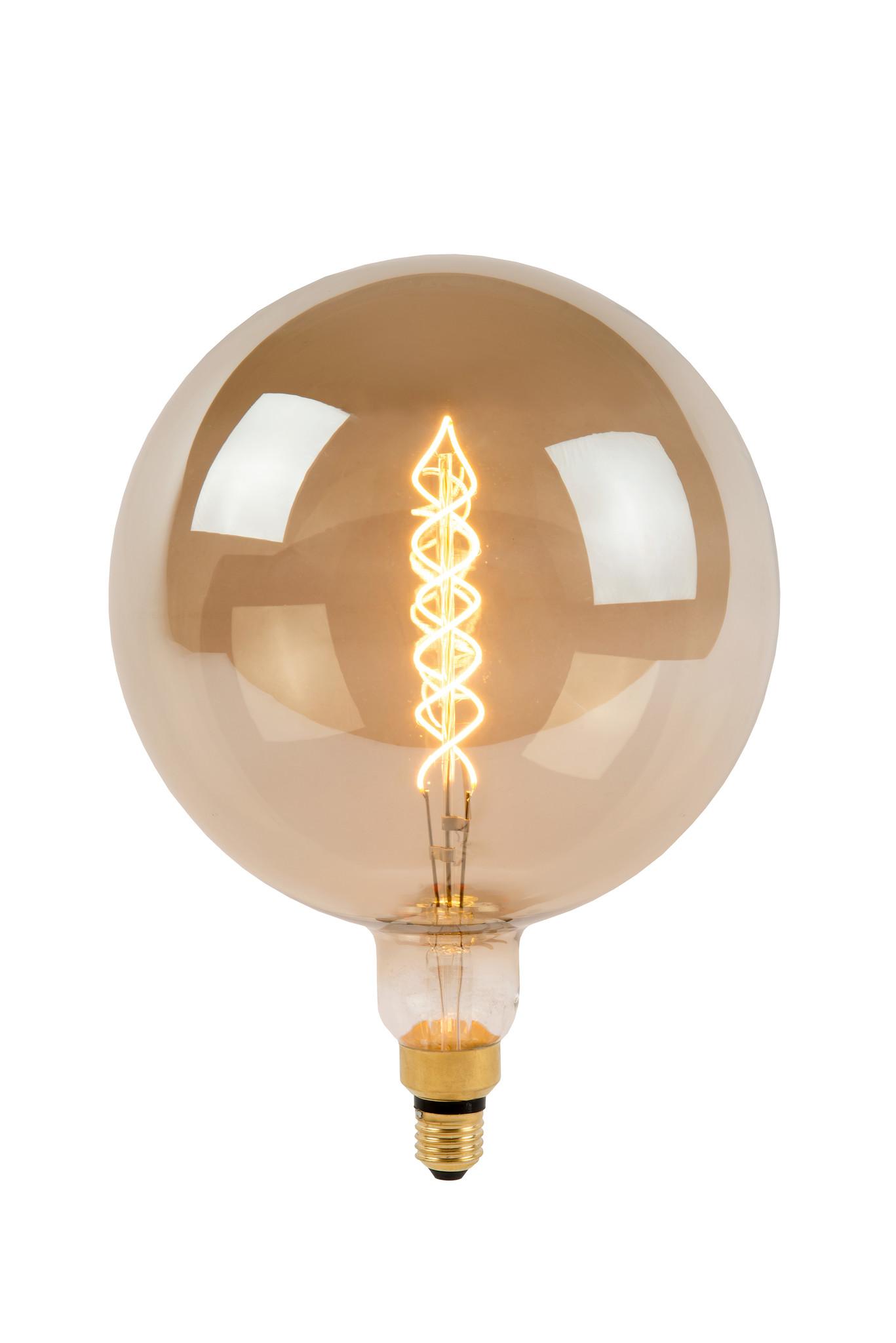 Lucide G250 GIA. Fil. lamp-Fumé-LED Dimb.-1xE27-10W-2200K