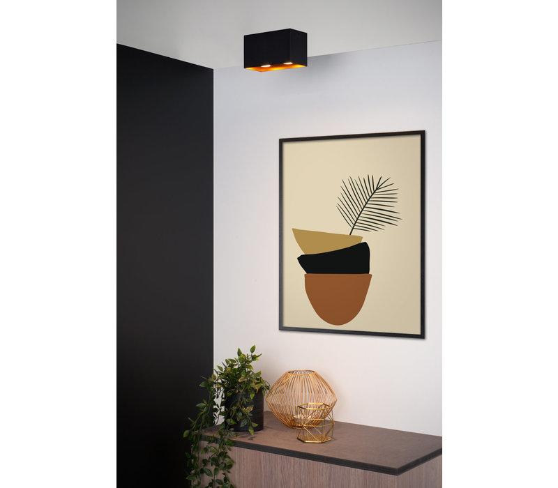 BIDO Plafondspot Rechthoek 1xGU10/50W Zwart