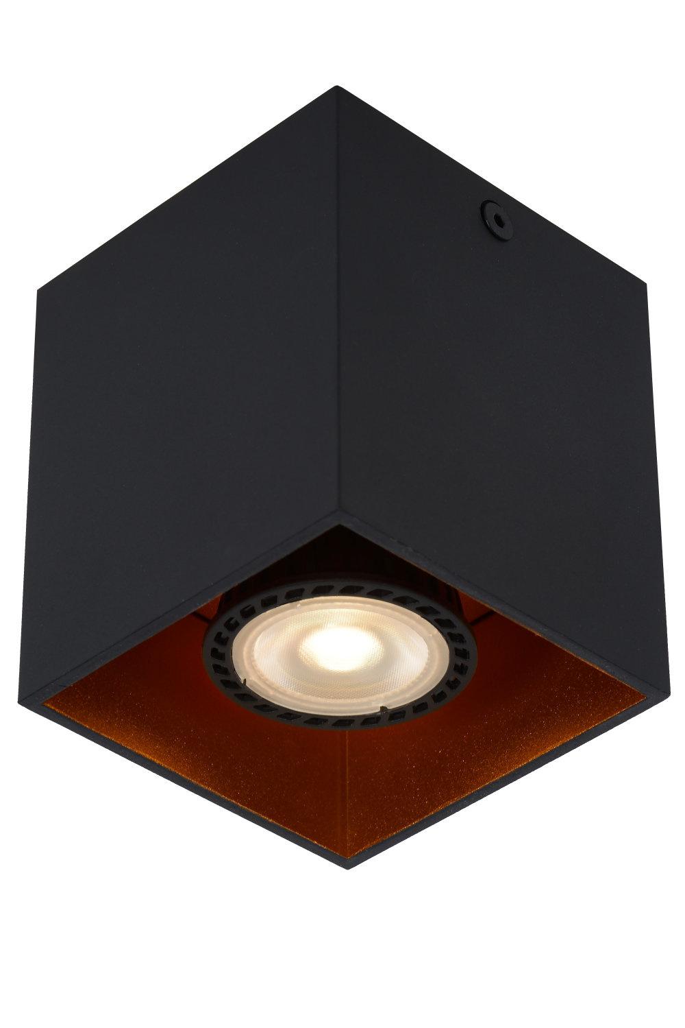 Lucide BIDO Plafondspot Vierkant 1xGU10/50W Zwart