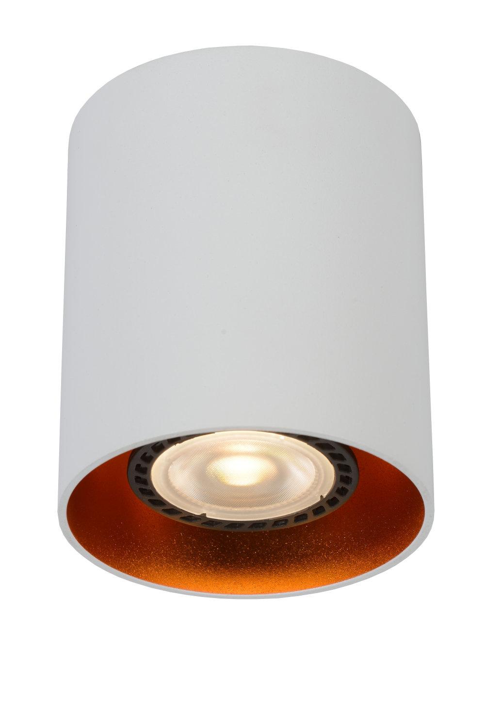 Lucide BIDO Plafondspot-Wit-Ø8-1xGU10-50W-Alumin.