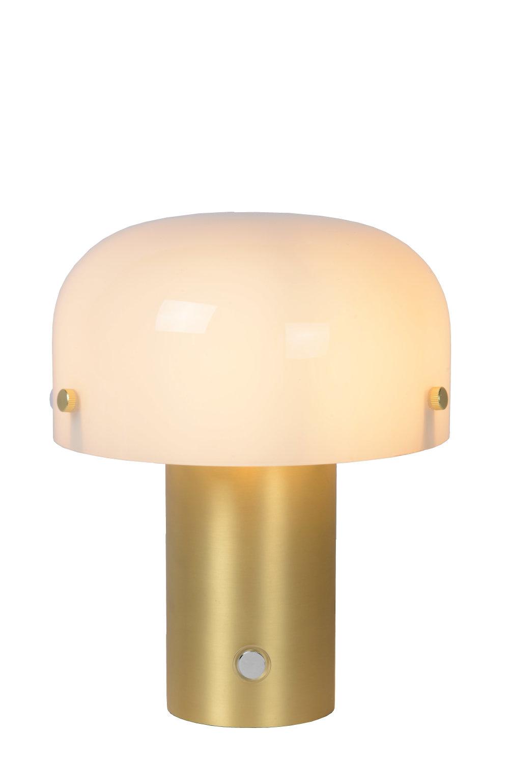 Lucide TIMON Tafellamp-Mat Go.-1xE14-25W-3 StepDim-Glas