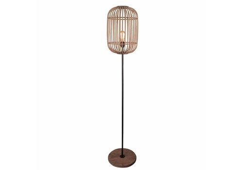 Freelight Vloerlamp Treccia H 175 cm beige zwart