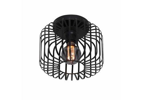 Freelight Plafondlamp Stecca Ø 25 cm zwart