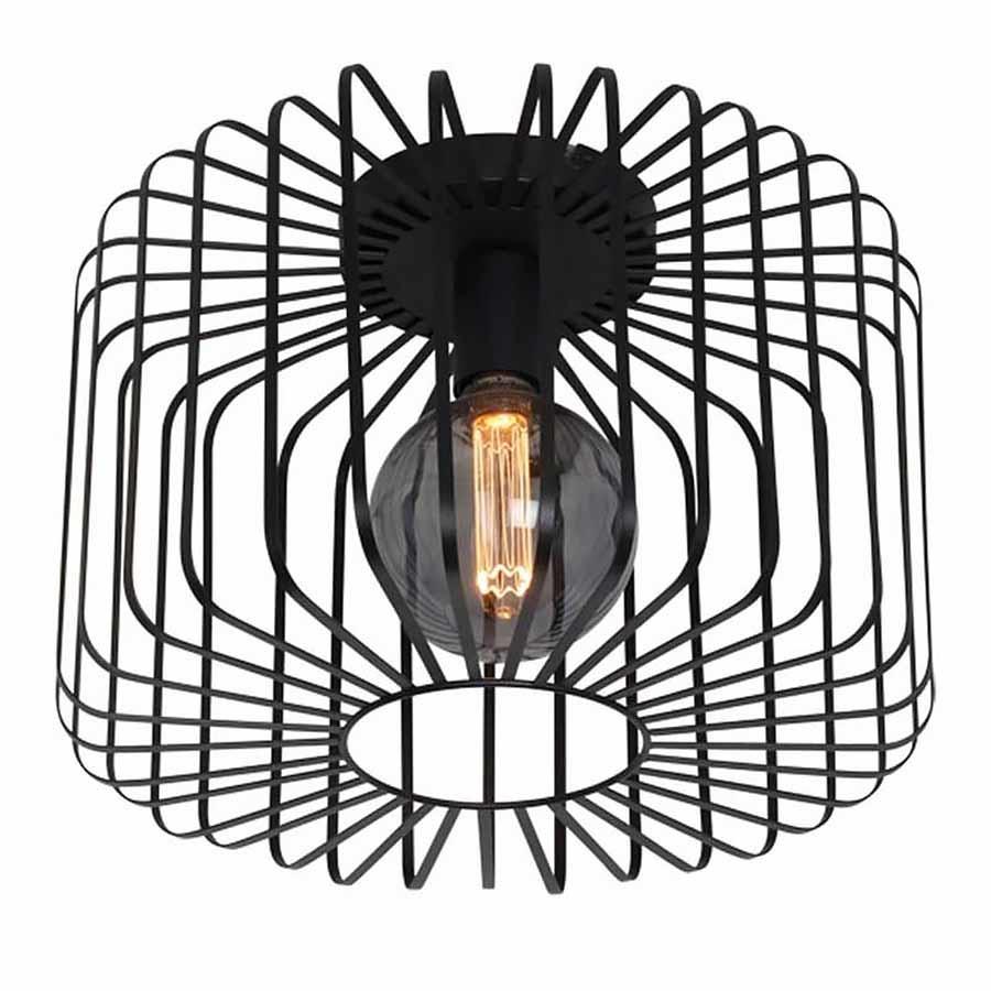 Freelight Plafondlamp Stecca Ø 40 cm zwart
