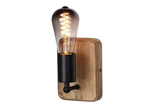 Freelight Wandlamp Lenero 1 Lichts  15 x 15 cm hout zwart
