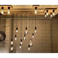 Plafondlamp Lenero 3 Lichts L 50 cm hout zwart