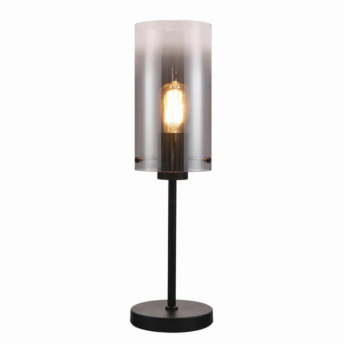 Freelight Tafellamp Ventotto H 58 cm Ø 15 cm rook glas zwart