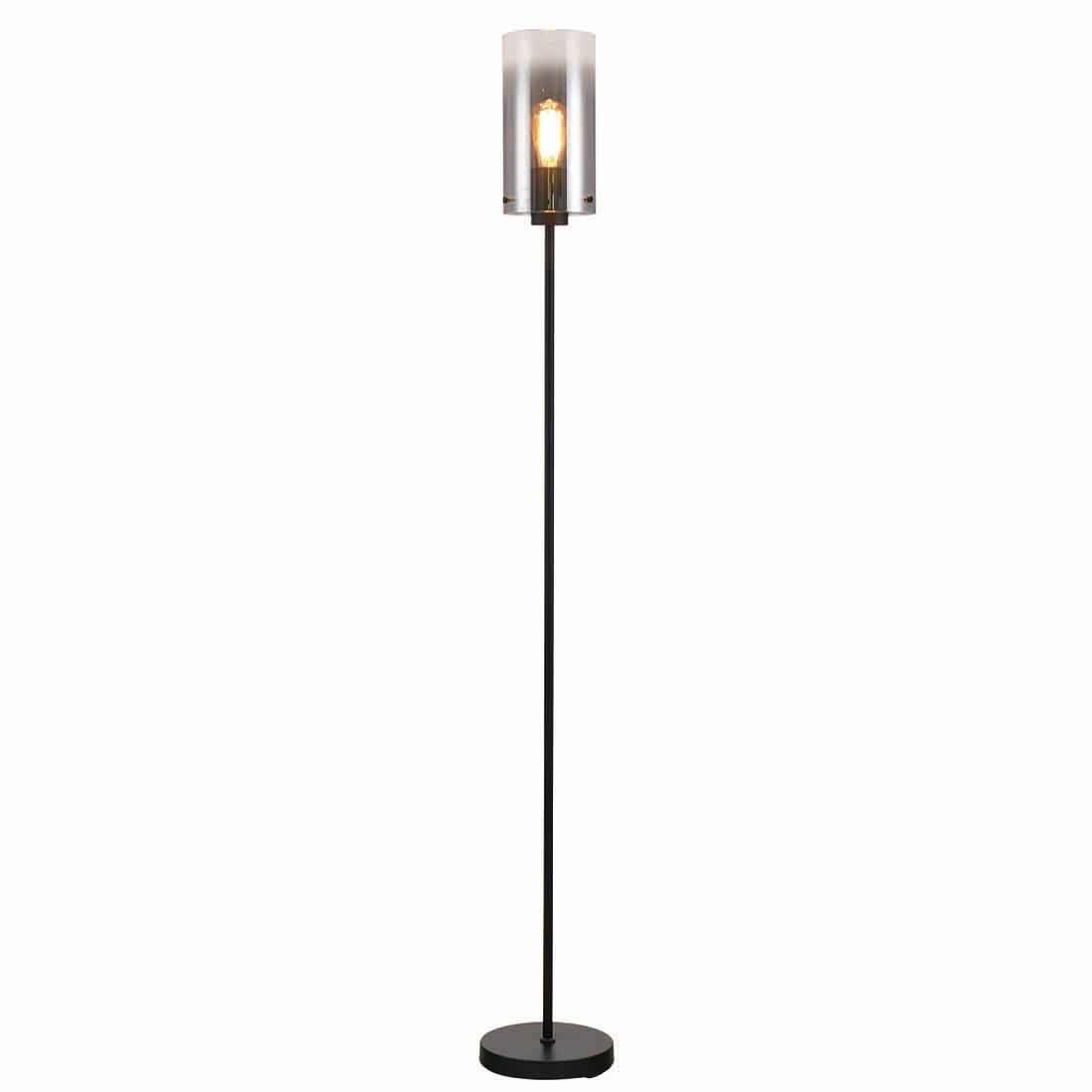 Freelight Vloerlamp Ventotto H 165 cm Ø 15 cm rook glas zwart