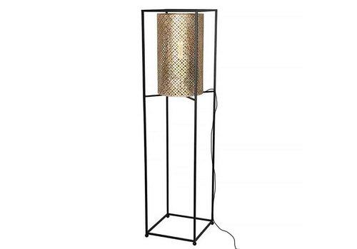 Freelight Vloerlamp Petrolio H 152 cm B 35 cm goud zwart