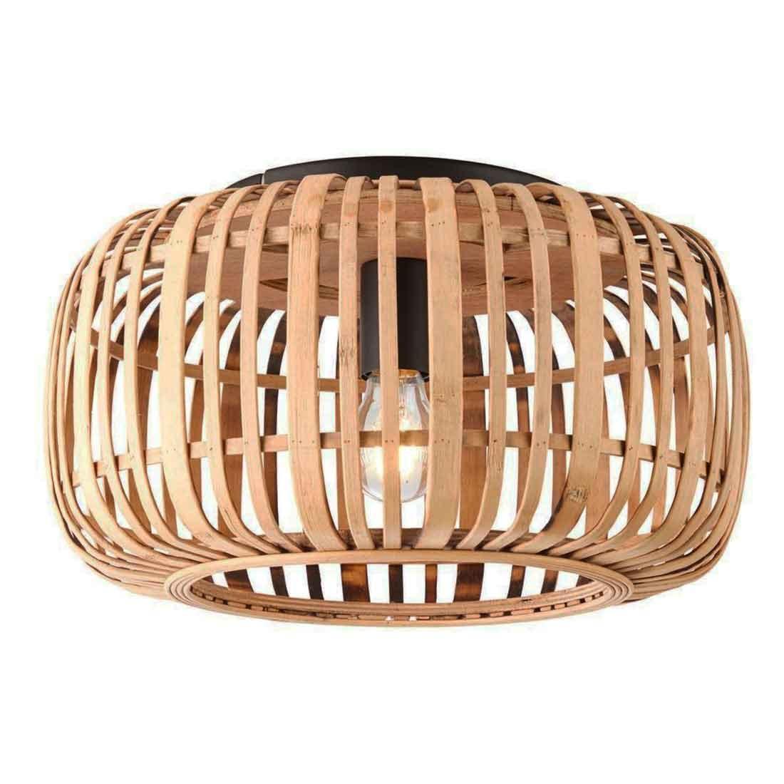 Freelight Plafondlamp Treccia Rotan Ø 40 cm beige zwart