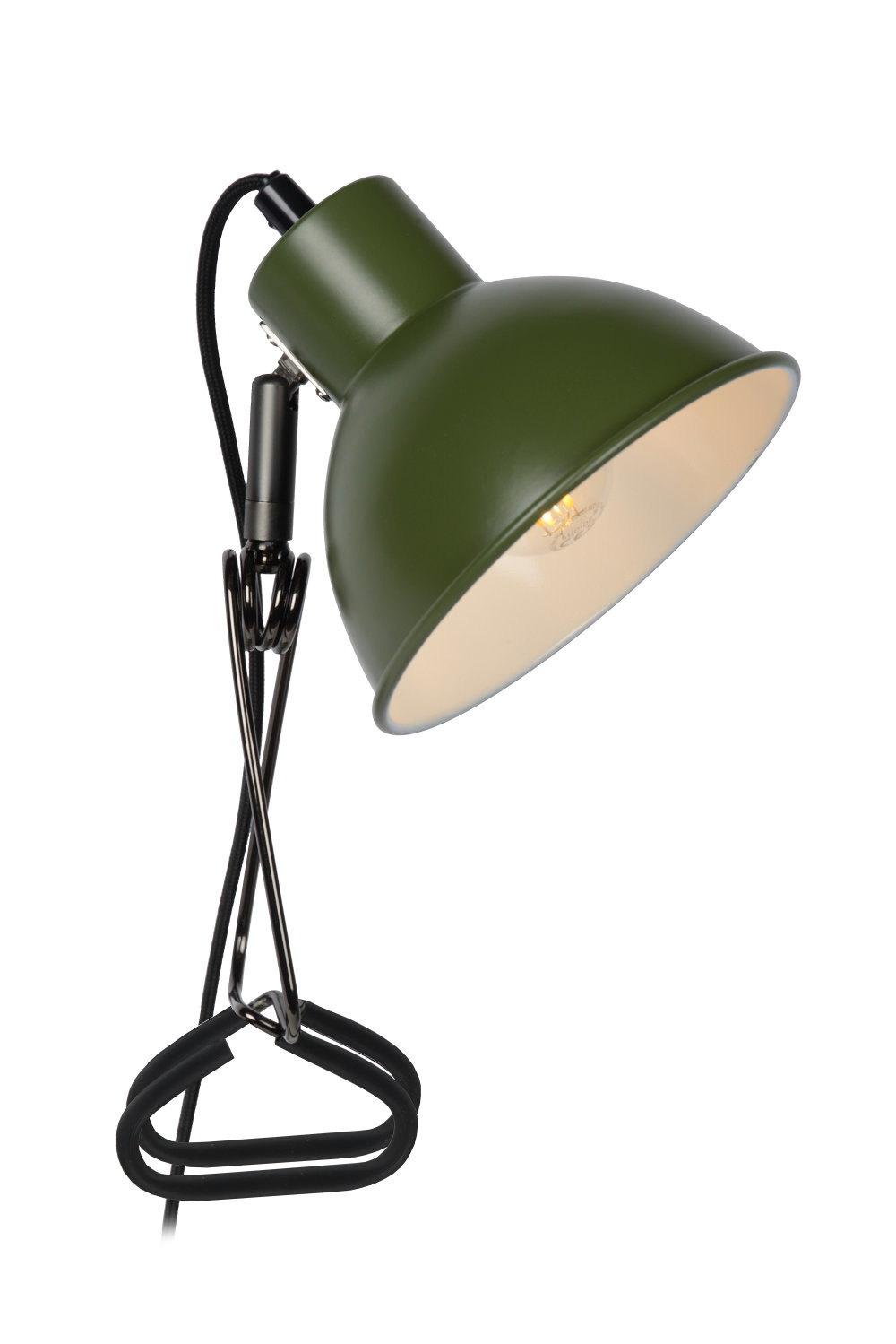 Lucide MOYS Klemlamp-Groen-1xE27-40W-Staal