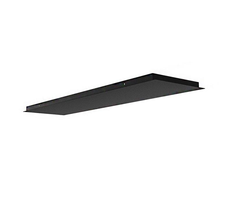 Plafondplaat L 120 cm B 30 cm zonder gaten zwart