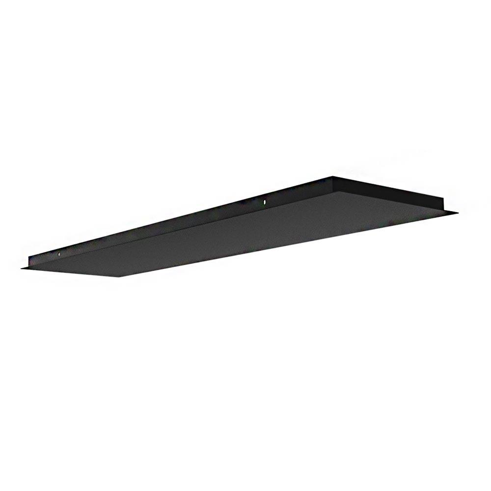 Ylumen Plafondplaat L 120 cm B 30 cm zonder gaten zwart