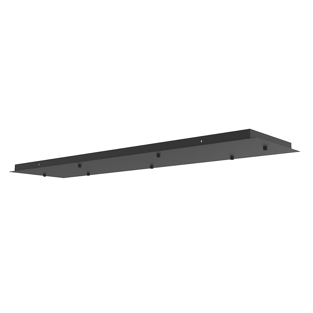 Ylumen Plafondplaat L 120 cm B 30 cm met 7 gaten zwart