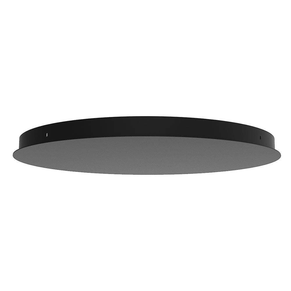 Ylumen Plafondplaat Ø 50 cm zonder gaten zwart