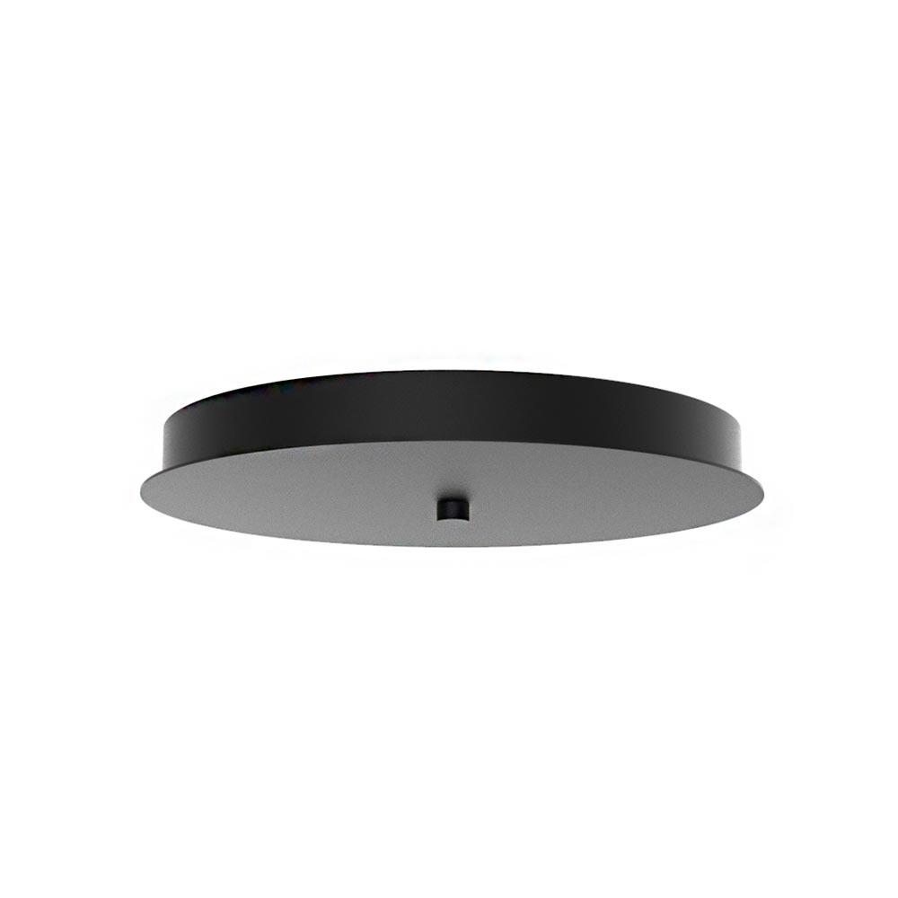 Ylumen Plafondplaat Ø 30 cm zonder gaten zwart