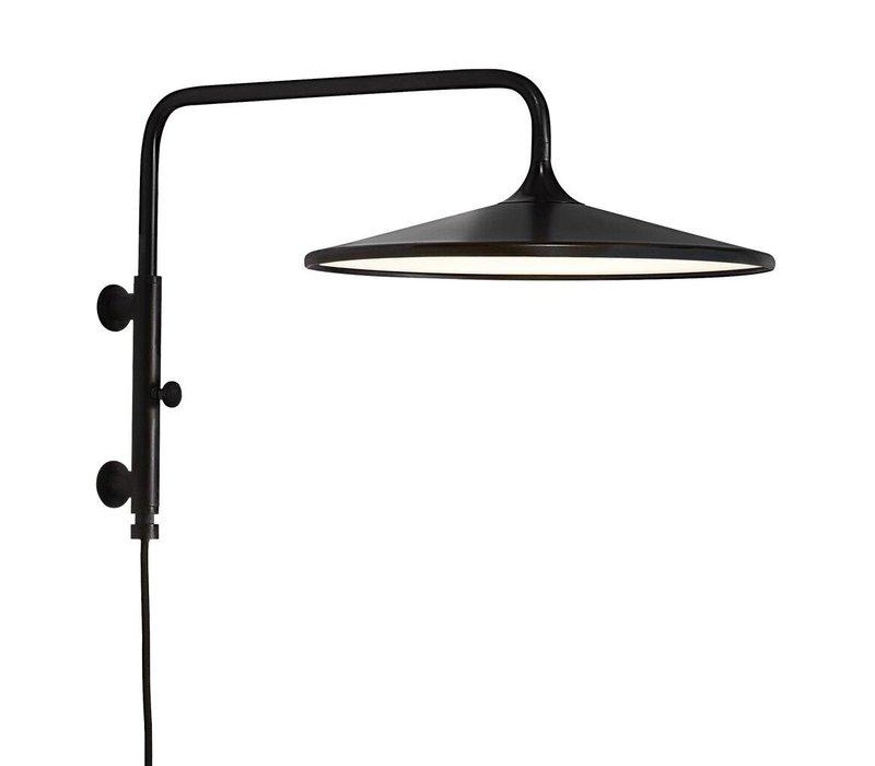 Wandlamp Balance  Ø 30 cm 3 step dim zwart