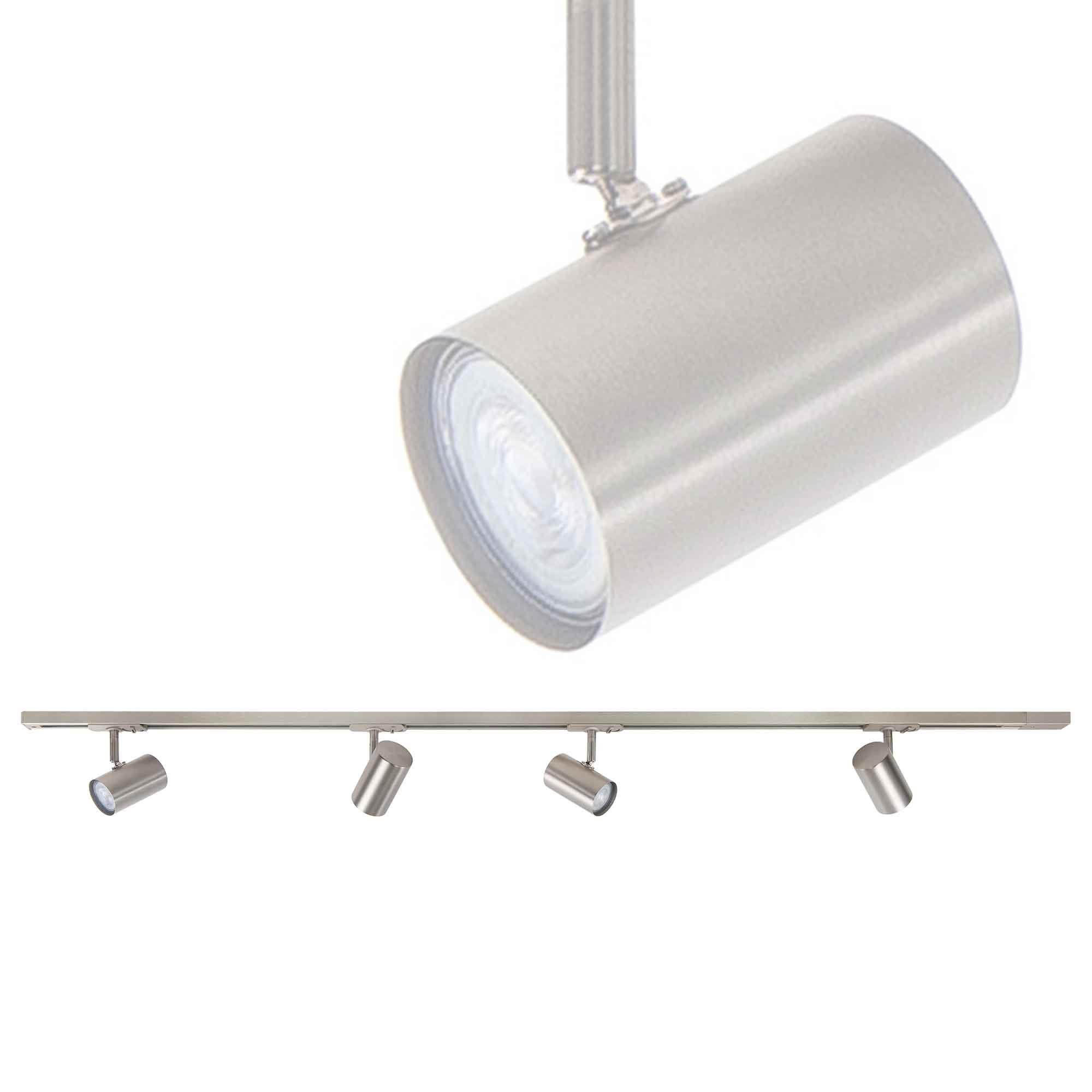 Highlight Railsysteem Trackline 150 cm + 4 cilinder spots mat chroom
