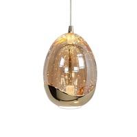 Hanglamp Golden Egg 5 lichts Ø 30 cm amber-zwart