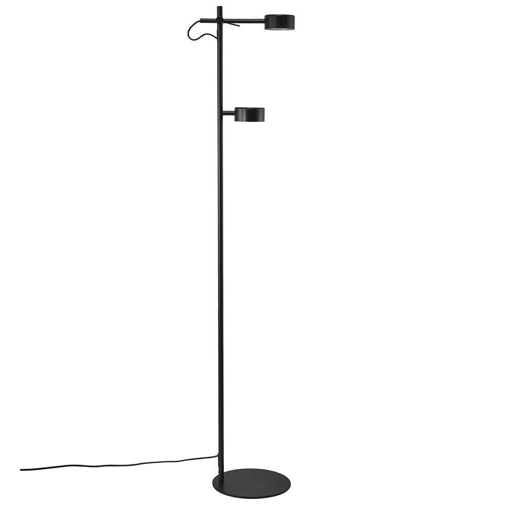 Nordlux Vloerlamp Clyde 2 lichts H 138 cm 3 step dim zwart