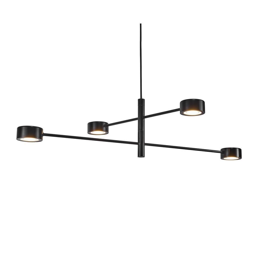 Nordlux Hanglamp Clyde 4 lichts 89 x 89 cm 3 step dim zwart