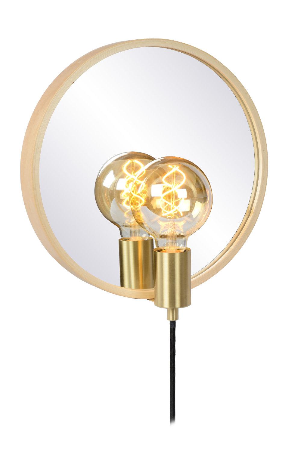 Lucide REFLEX Spiegellamp-Licht .-1xE27-25W-Hout