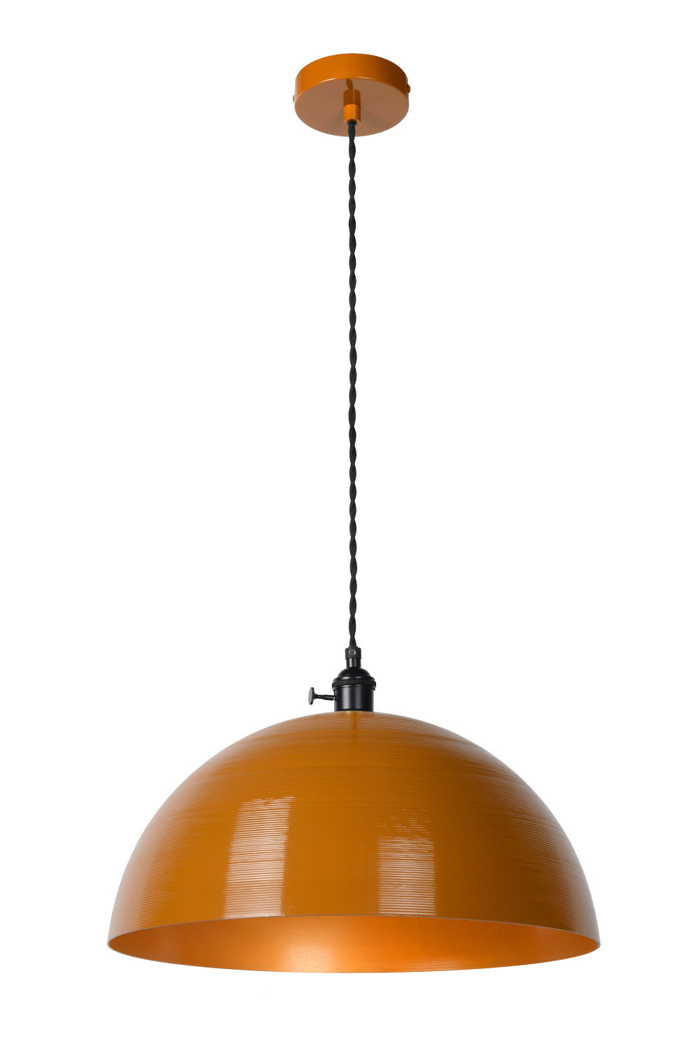 Lucide MARNE Hanglamp-Okerge.-Ø40-1xE27-60W-IP21-Staal