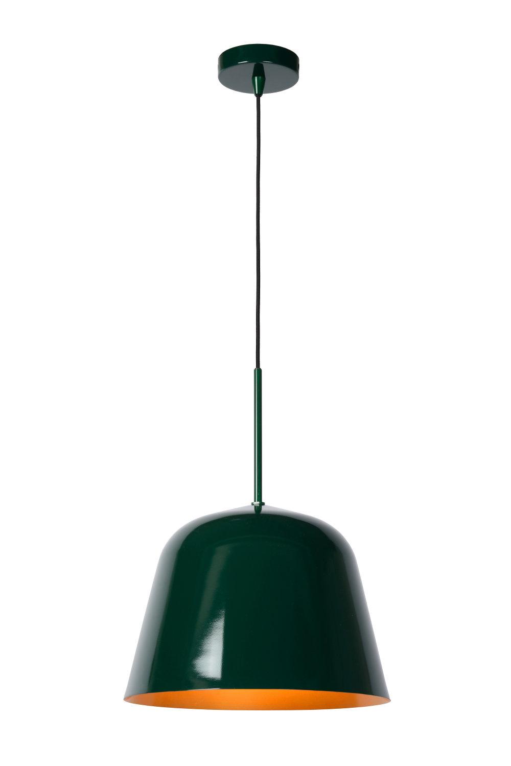 Lucide MISHA Hanglamp-Groen-Ø31-1xE27-60W-IP21-Staal