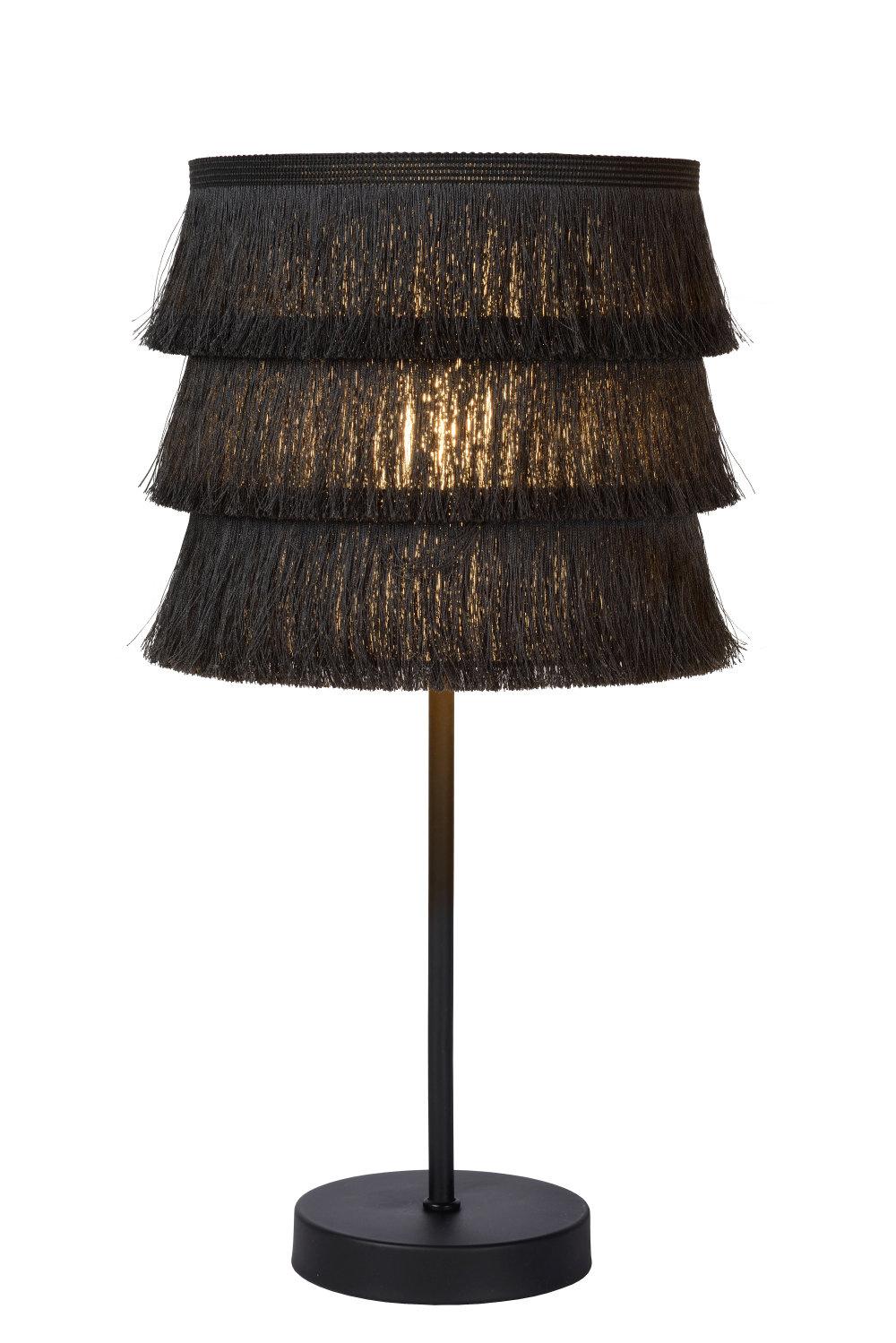 Lucide TOGO. Tafellamp-Grijs-Ø18-1xE14-40W-Katoen