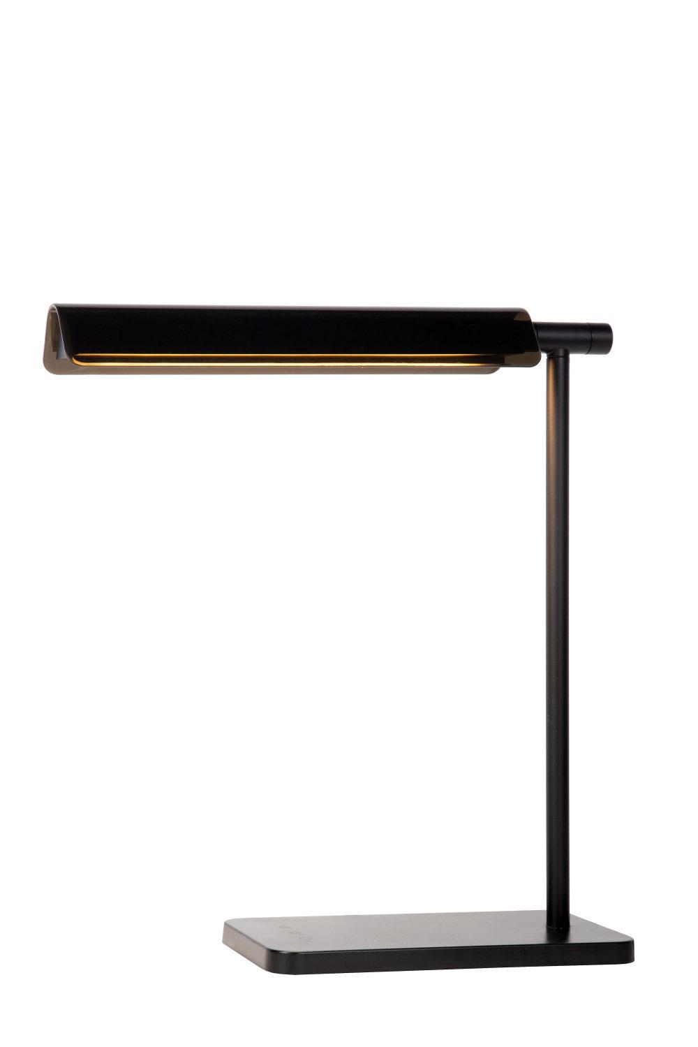 Lucide LEVI Bureaulamp-Zwart-LED Dimb.-8W-3000K/6500K
