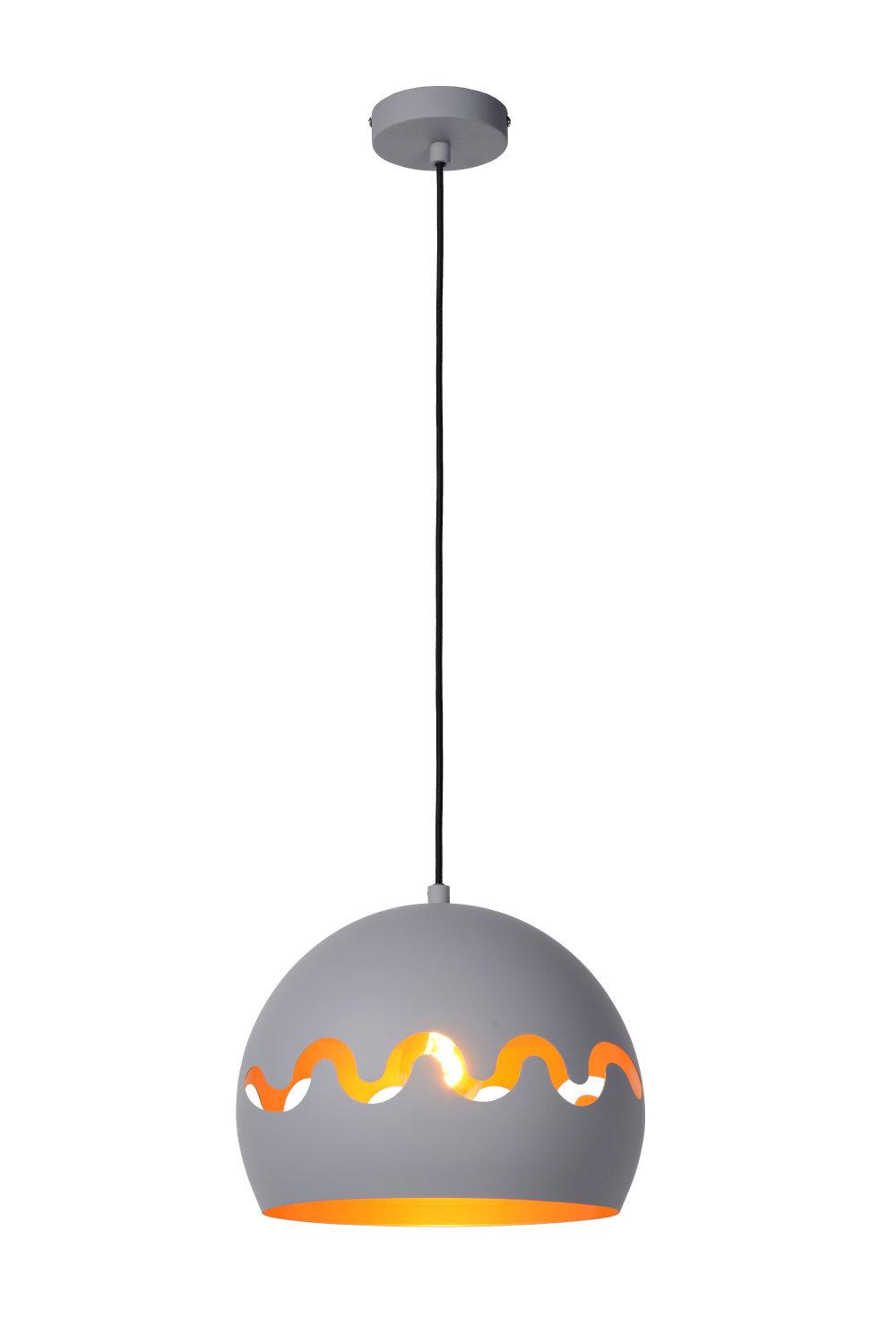 Lucide CORENTIN Hanglamp Kinder-Grijs-Ø28-1xE27-60W-IP21