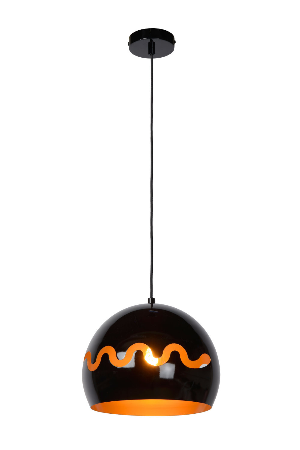 Lucide CORENTIN Hanglamp Kinder-Zwart-Ø28-1xE27-60W-IP21