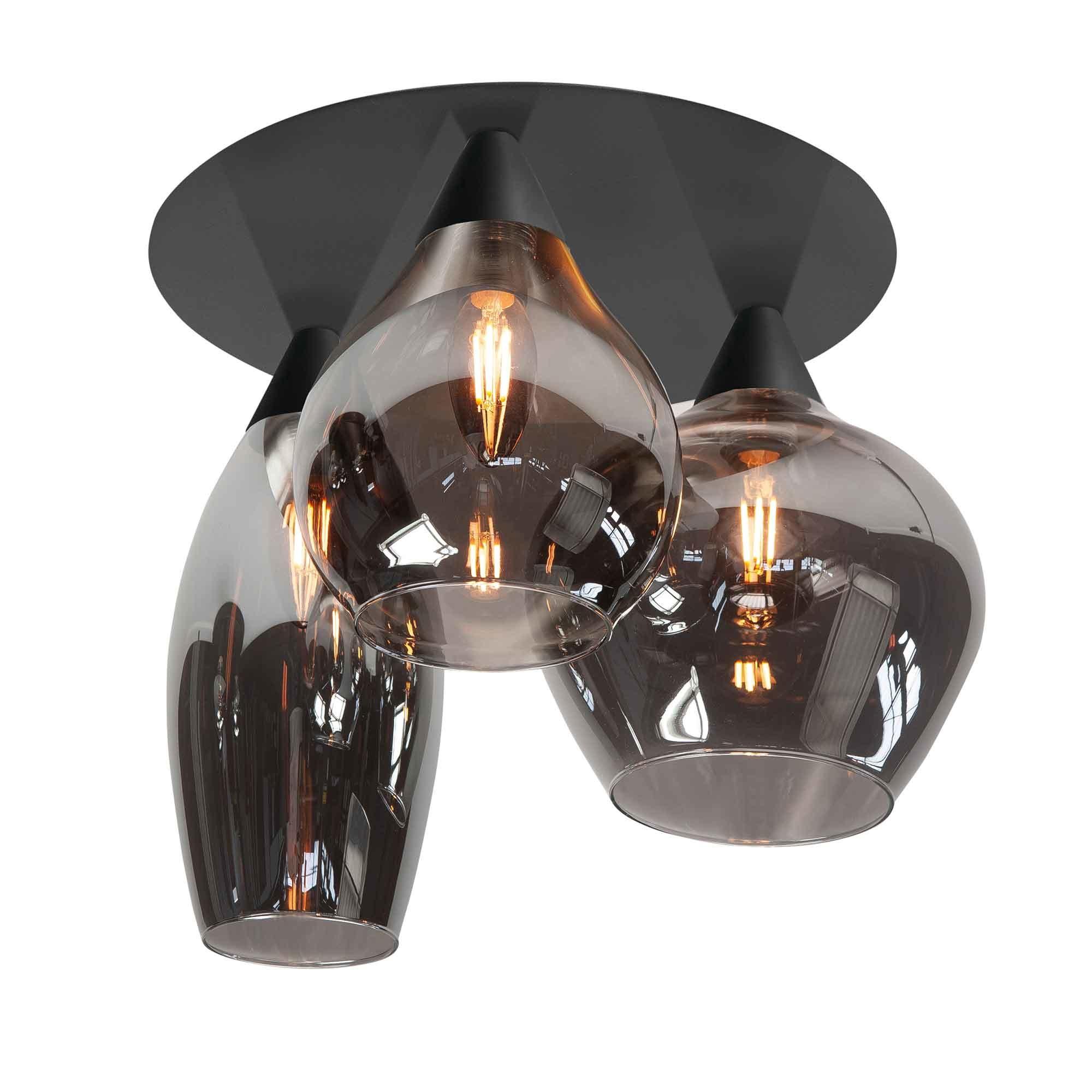 Highlight Plafondlamp Cambio 3 lichts Ø 32 cm zwart