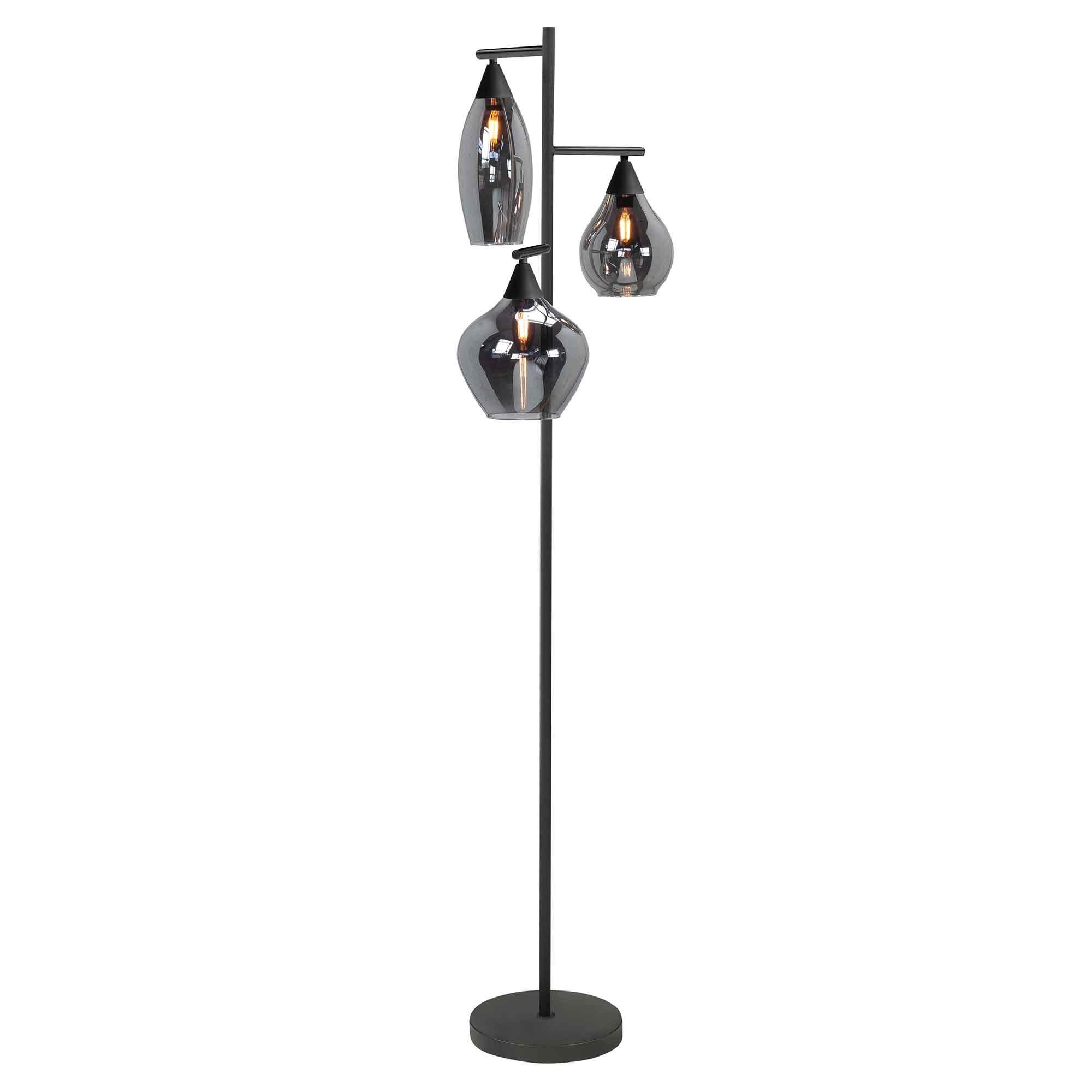 Highlight Vloerlamp Cambio 3 lichts 160 cm zwart